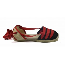Espadrille Yute 3 red strips